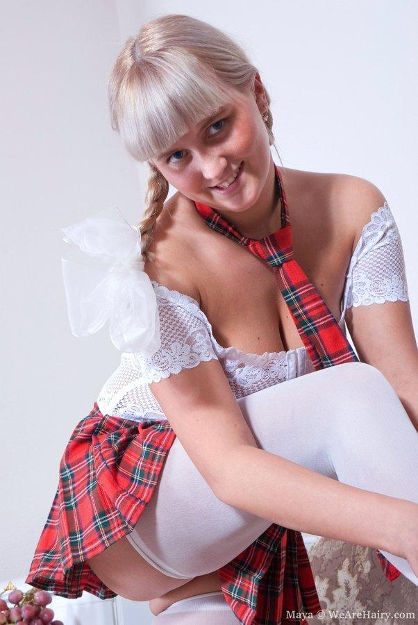 Uniform girls pubic hairs outddor 2