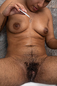 Wet Hirsute Nude From Iran